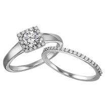14K White Gold Diamond Engagement Ring 5/8 ctw : WB5697E