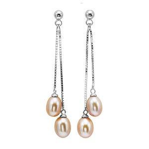 Freshwater Pearl Earrings in Sterling Silver / 126EO1P