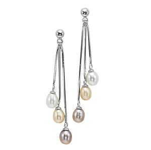 Freshwater Pearl Earrings in Sterling Silver / 130EO6WOP
