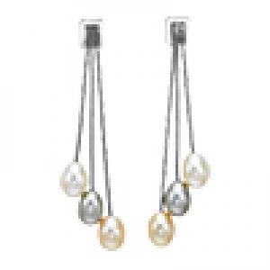 Silver F/W Pearl Earrings/228E05WGO