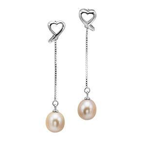 Freshwater Pearl Earrings in Sterling Silver / 362EOIP