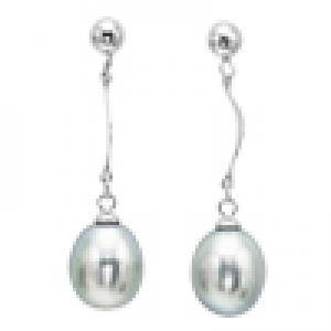 Silver F/W Pearl Earrings/412E04G
