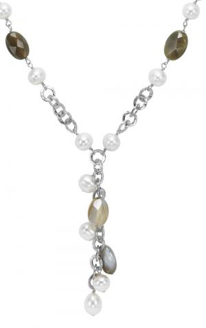 Silver Pearl Agate Necklace/586N01