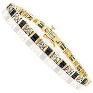 Gold Diamond & Sapphire Breacelet:B100SWC