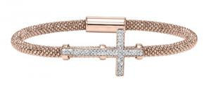 Silver Cross Bracelet Rose/FB1084