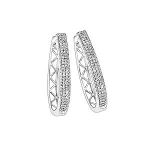 1/4 ctw Diamond Earrings in Sterling Silver / FE1125