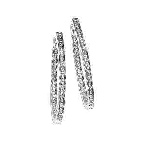 1/7 ctw Diamond Earrings in Sterling Silver / FE1127