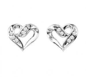Diamond Earrings in Sterling Silver / FE1133