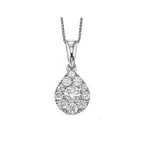 Gold Diamond Pendant 1/2ctw/FP1162AW