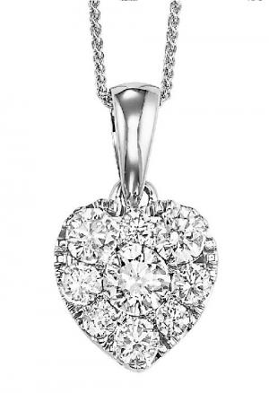 Gold Diamond Pendant 1/2ctw/FP1166AW
