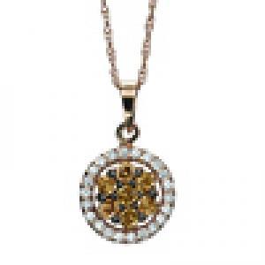 1/3 ctw Brown & White Diamond Pendant in 14K White Gold/FP4081P