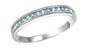Blue Topaz Ring in 14K White Gold / FR1242