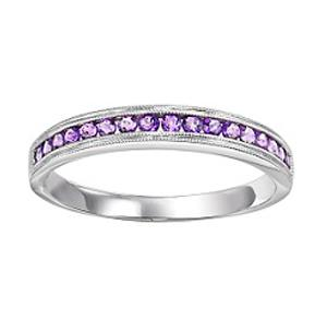 Amethyst Ring in 14K White Gold / FR1244