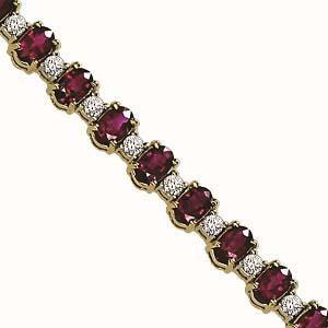 14K White Gold Diamond & Ruby Bracelet  / JB2417WRC6