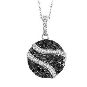 1/2 ctw Black and White diamond Pendant. / NP650