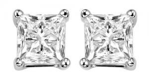 14K Diamond P/Cut Studs 1 ctw/PC6100MW