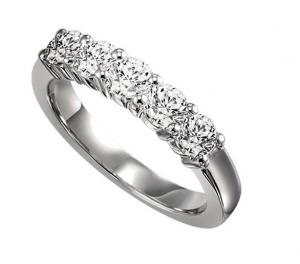 1/3 ctw Five Stone Diamond Ring in 14K White Gold/SS5076W