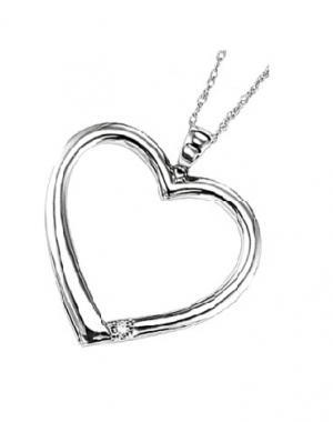 Silver Diamond Pendant / UP1014BX