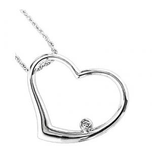 Silver Diamond Pendant / UP1015BX