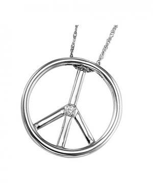 Silver Diamond Pendan / UP1017BX