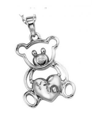 Silver Diamond Pendan / UP1020BX