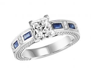 14K White Gold 1/2 gtw Diamond Ring/WB5812E