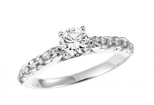 14K White Gold Diamond Ring 1/2 ctw : WB5819E