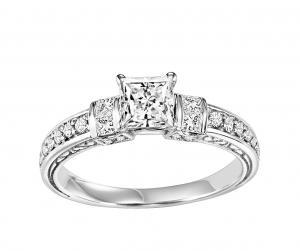 14K White Gold 1/2 ctw Diamond Ring/WB5854E