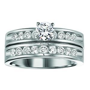 14K Gold Diamond Engagement Ring Set 1 ctw / WB5785E&W